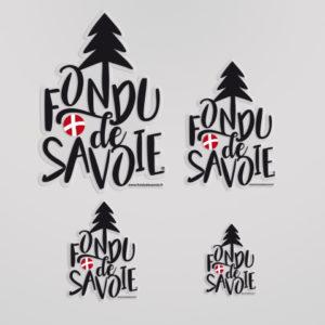 Autocollant Fondu De Savoie Noir