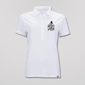Polo Blanc Femme Grand Logo Fondu De Savoie