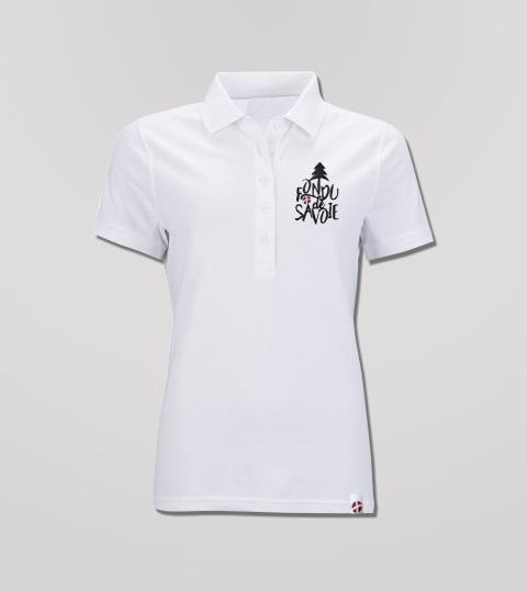 Polo Blanc Femme Fondu de Savoie