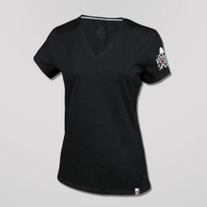 T-shirt Femme Noir Fondu De Savoie