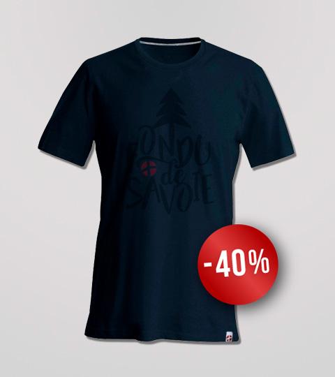 T-shirt Navy Homme Fondu De Savoie