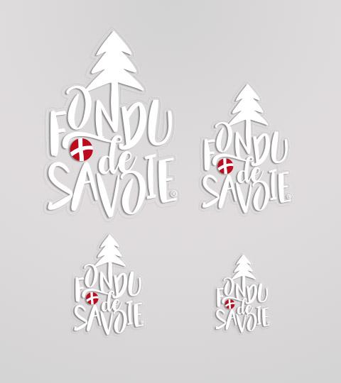 Autocollant Fondu De Savoie Blanc