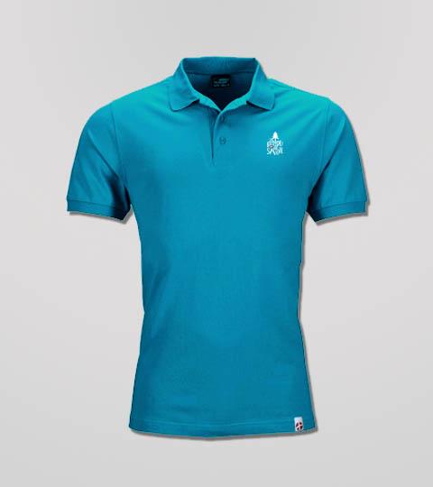Polo Turquoise Homme Fondu De Savoie