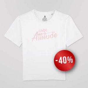 T-shirt Femme Blanc Coupe «boxy» Fondu Attitude