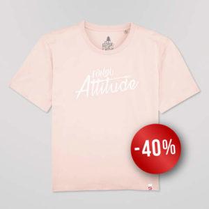 T-shirt Femme Candy Pink Coupe «boxy» Fondu Attitude