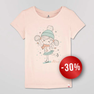 T-shirt Fille Candy Pink Patineuse