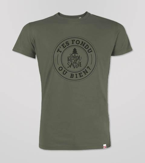 T-shirt Khaki Homme Fondu De Savoie