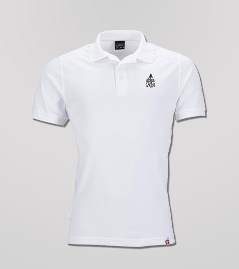 Polo Blanc Homme Petit Logo Fondu De Savoie