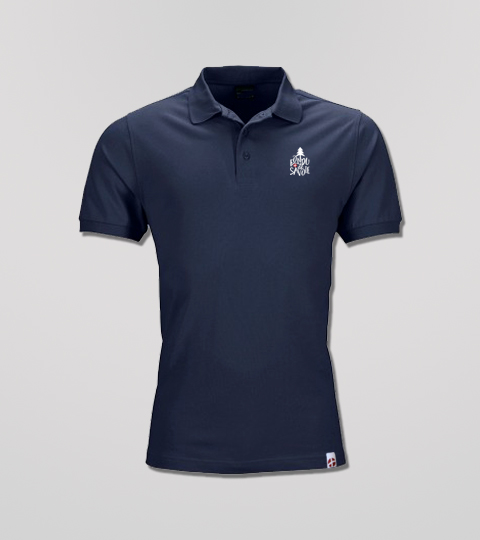 Polo Navy Homme Petit Logo Fondu De Savoie
